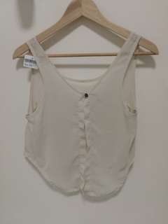 (Made in Italy) Brandy Melville White Tank Top