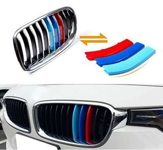 Triple 3 M-Colored Grille Insert Trims for BMW