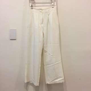 🚚 正韓 白色西裝褲