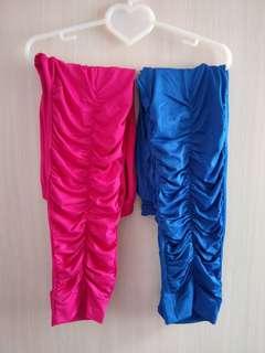 🚚 藍色 粉色內搭褲