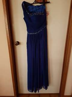 Dark blue wedding deb dress size small size 8