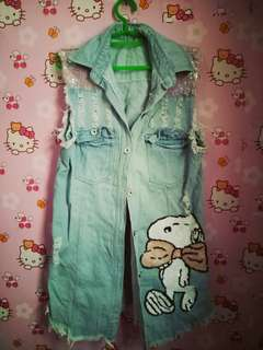 Maong long blouse
