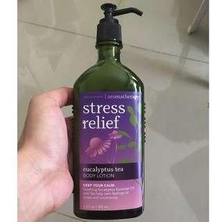 Bath & Body Works Aromatherapy Stress Relief Eucalyptus Tea Body Lotion