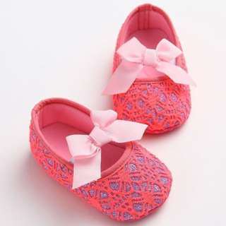 Shine Lace Anti-Slip Baby Infant Toddler Pre-walker Shoes