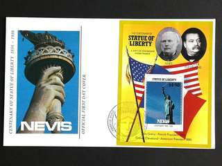 1986 Nevis-Statue of Liberty FD-Cover