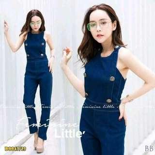 Jeans jumpsuit; F&a
