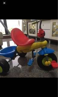 Smartrike Tricycle with handle to push