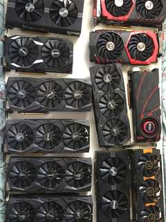 Various mining cards!!! Selling all as a bundle