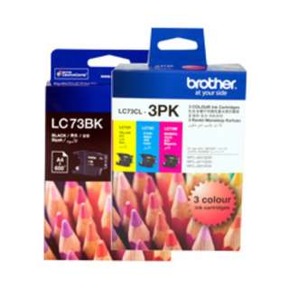 Brother LC73BK - 2PK (Black & Colours available)