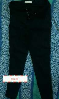 Highwaist Pants(Black) sizes fit to medium-Large