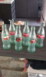Coca Cola Christmas '97 Bottles