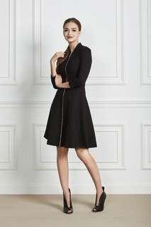French Allure black dress