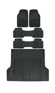 Mini Van SUV Floor Mats All Weather 5 Piece Rubber Mat 3 Row & Trunk Mat Black Brand new