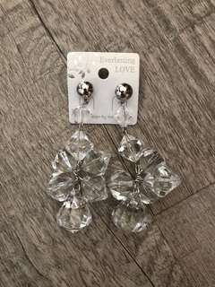 Korean style acrylic earrings (transparent)