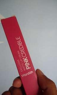 #BARU Wardah Exclusive Matte Lip Cream No 8 (Pink Credible)