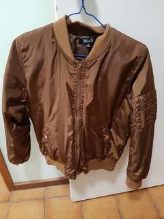 Brown bomber jacket size small 8