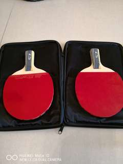 红雙喜6星板X2,5星板X2,Prince 網球拍X2