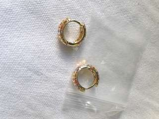 Mixed silver/gold earrings