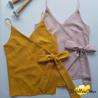 V-Neck Bow Tie Cami Top