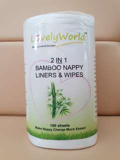 Bamboo Nappy Liners & Wipes