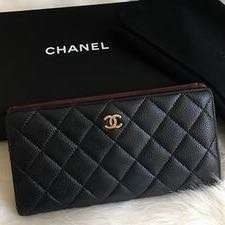 BRAND NEW!! Authentic CHANEL bi-fold caviar wallet