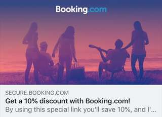 Free Booking.com 10% reward