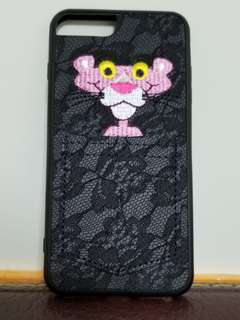 I phone 7 傻豹公仔Lace手機殼~背面可放八達通咭