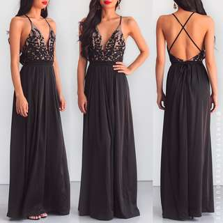 Honey Peaches Star of the Show Maxi Dress