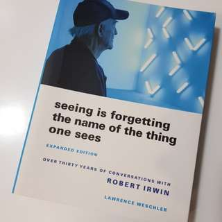 Robert Irwin (visual artist) biography: Seeing is forgetting the name of the thing one sees