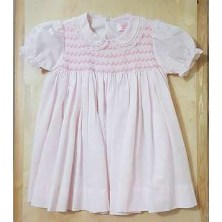 Light Pink Hand Embroidered Dress (9-12 mos)