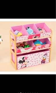 Kid toy storage rack organizer