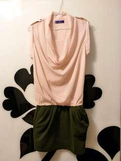 🚚 近全新Kezza 絲質垂領襯衫花苞洋裝