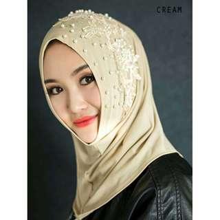 Pearl Embroidery Hijab