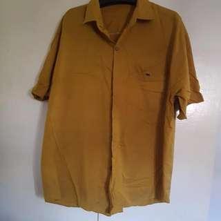 Mustard Yellow Lacoste Polo