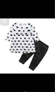 Cat kitten long sleeved legging pants set infant baby girl toddler newborn