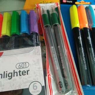 Highlighter X 2 ,pens