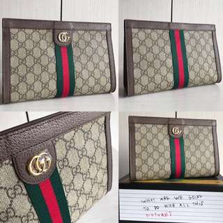 👍🏻BEST SELLING Gucci Ophidia GG Clutch