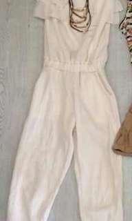 Cream color jumpsuit