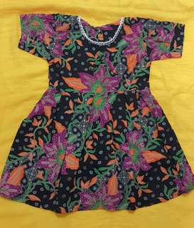 BATIK DRESS FOR 4-6 YEARS OLD