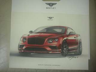 Posters: BENTLEY BENTAYGA LAUNCH 15 April 2016 & CONTINENTAL SUPERSPORTS Limited Edition ORIGINAL