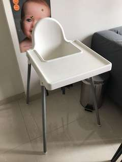 IKEA baby high chair with table top