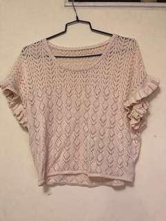 通花襯衫,棉線,八成新