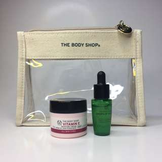 Authentic The Body Shop Vitamin E Cream and Drops of Youth Bundle