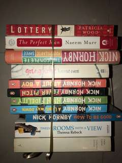 [Bundle Deal!] Assorted Adult Fiction, featuring books by Nick Hornby, Patricia Wood and More!