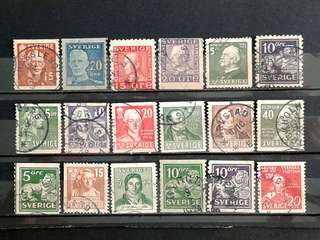 Sweden used stamps