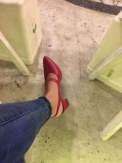 Maroon heels