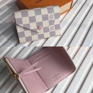 LV Damier Azur Canvas Victorine Wallet