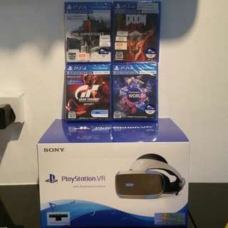 Playstation VR With 4 games