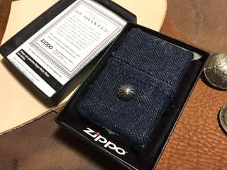 Zippo Lighter With Denim And Silver 打火機 牛仔 銀 USA