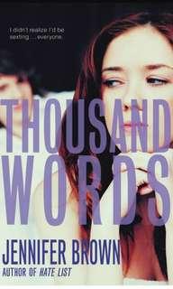 Thousand Words - Jennifer brown